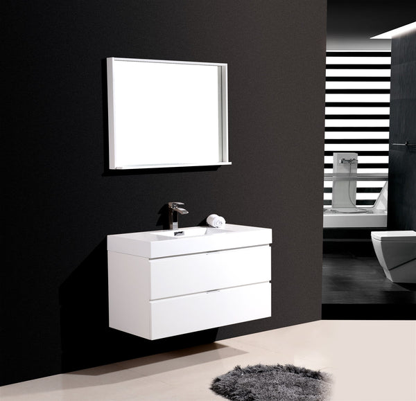 "Bliss 40"" Wall Mount Bathroom Vanity by KubeBath"