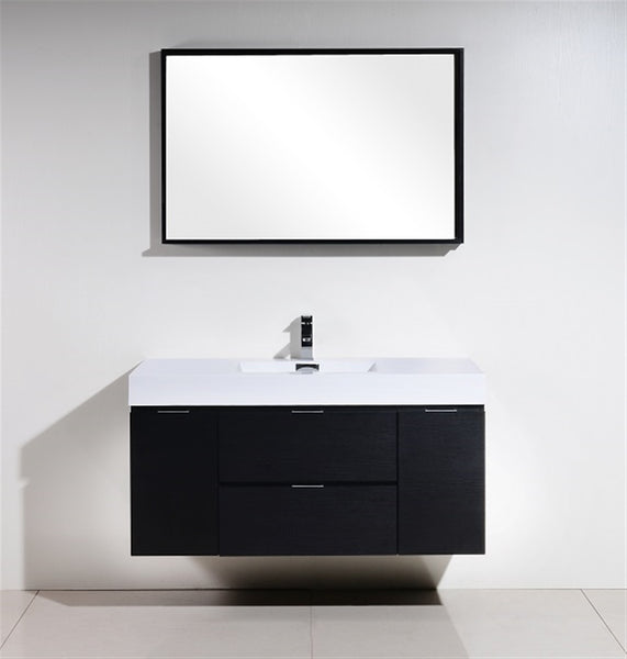 "Bliss 48"" Wall Mount Bathroom Vanity by KubeBath"