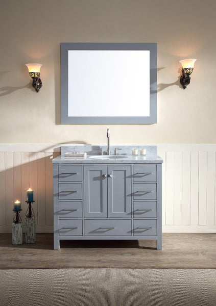 "Ariel Cambridge 43"" Single Sink Vanity Set"