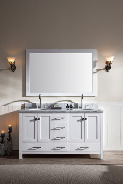 "Ariel Cambridge 61"" Double Sink Vanity Set"