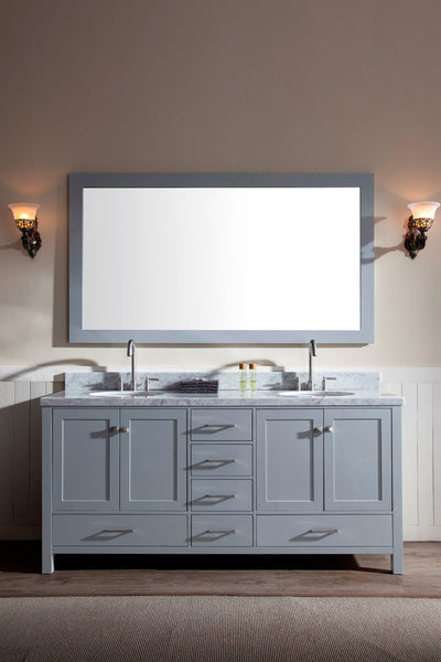 "Ariel Cambridge 73"" Double Sink Vanity Set"