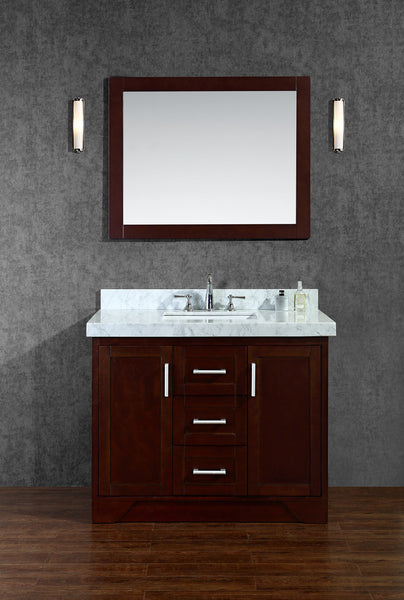 "Seacliff by Ariel Ashbury 42"" Single Sink Bathroom Vanity Set"