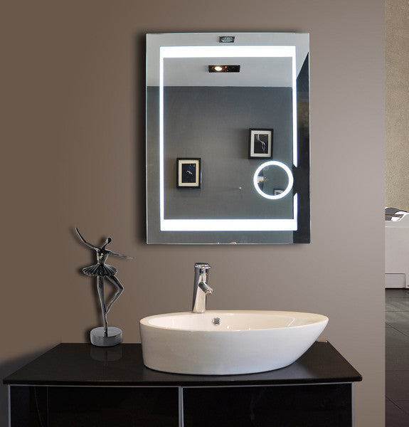 "Dimmable Aurora 24""x32"" Illuminated Mirror by Paris Mirror"