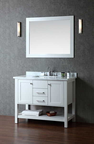 "Seacliff by Ariel Bayhill 42"" Single Sink Bathroom Vanity Set"