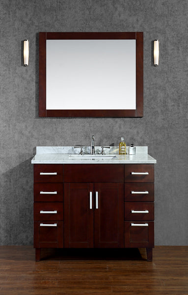 "Seacliff by Ariel Frampton 42"" Single Sink Bathroom Vanity Set"