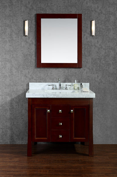 "Seacliff by Ariel Greenbrier 36"" Single Sink Bathroom Vanity Set"