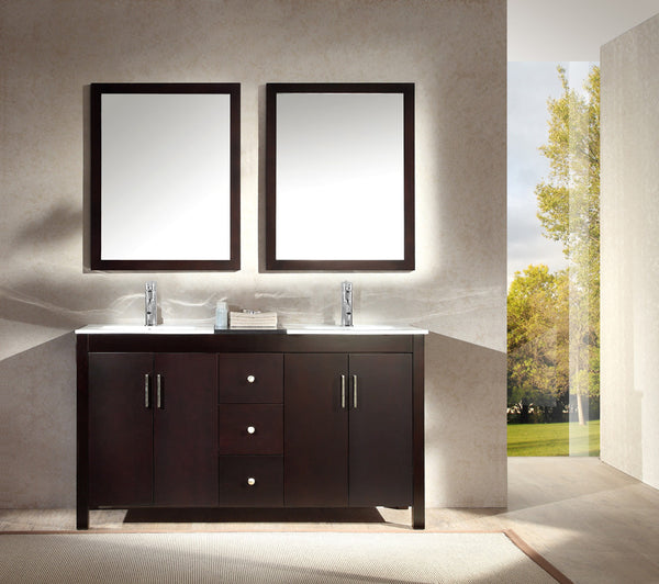 "Ariel Hanson 60"" Double Sink Vanity Set"