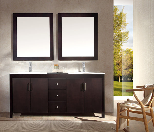 "Ariel Hanson 72"" Double Sink Vanity Set"