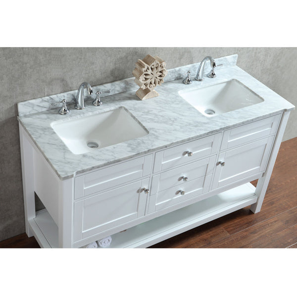 "Seacliff by Ariel Mayfield 60"" Double Sink Bathroom Vanity Set"