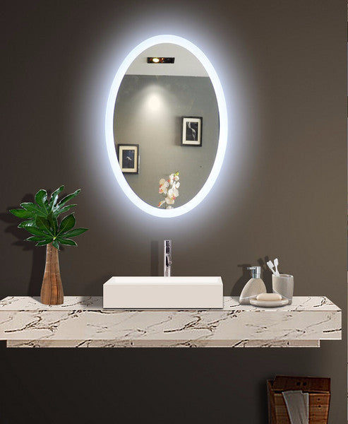 Backlit Illuminated Oval Mirror by Paris Mirror