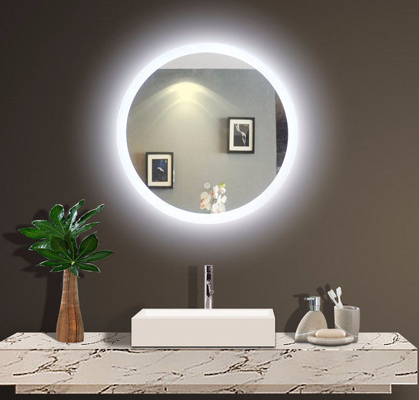 Backlit Illuminated Round Mirror by Paris Mirror