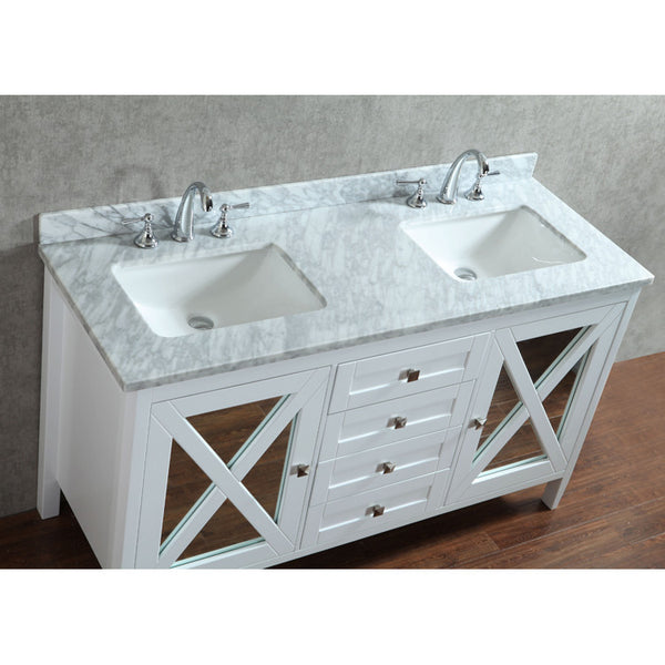 "Seacliff by Ariel Summit 60"" Double Sink Bathroom Vanity Set"