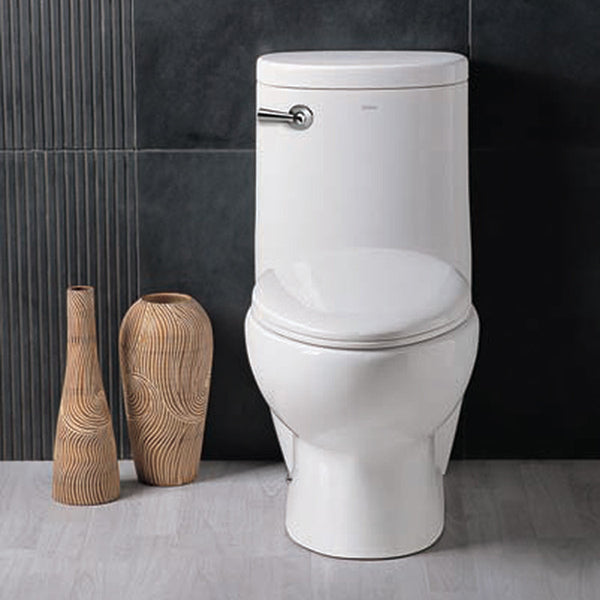 Ariel Platinum Hermes Contemporary One Piece White Toilet with Dual Flush
