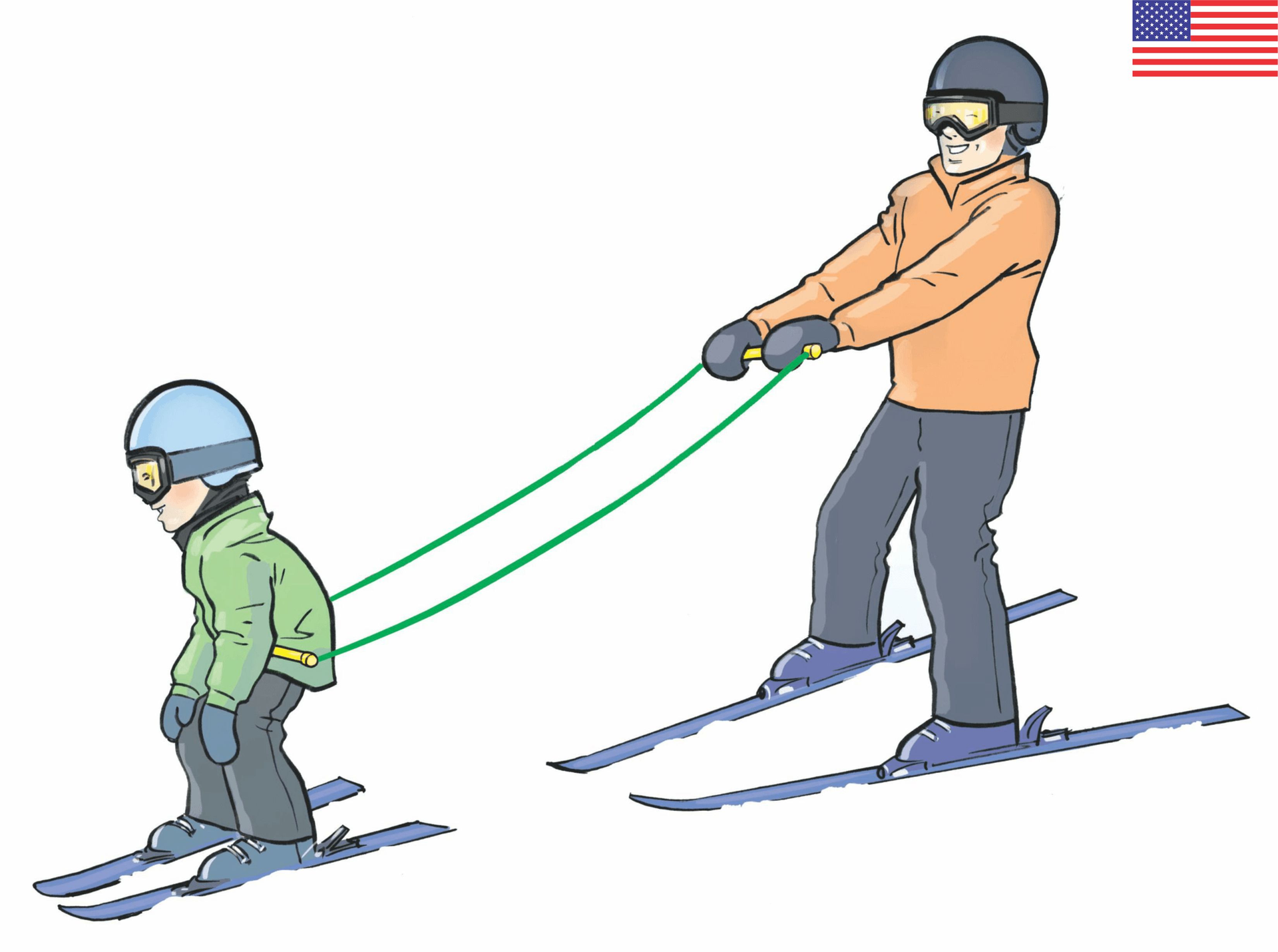 The easiest way kids learn to ski.