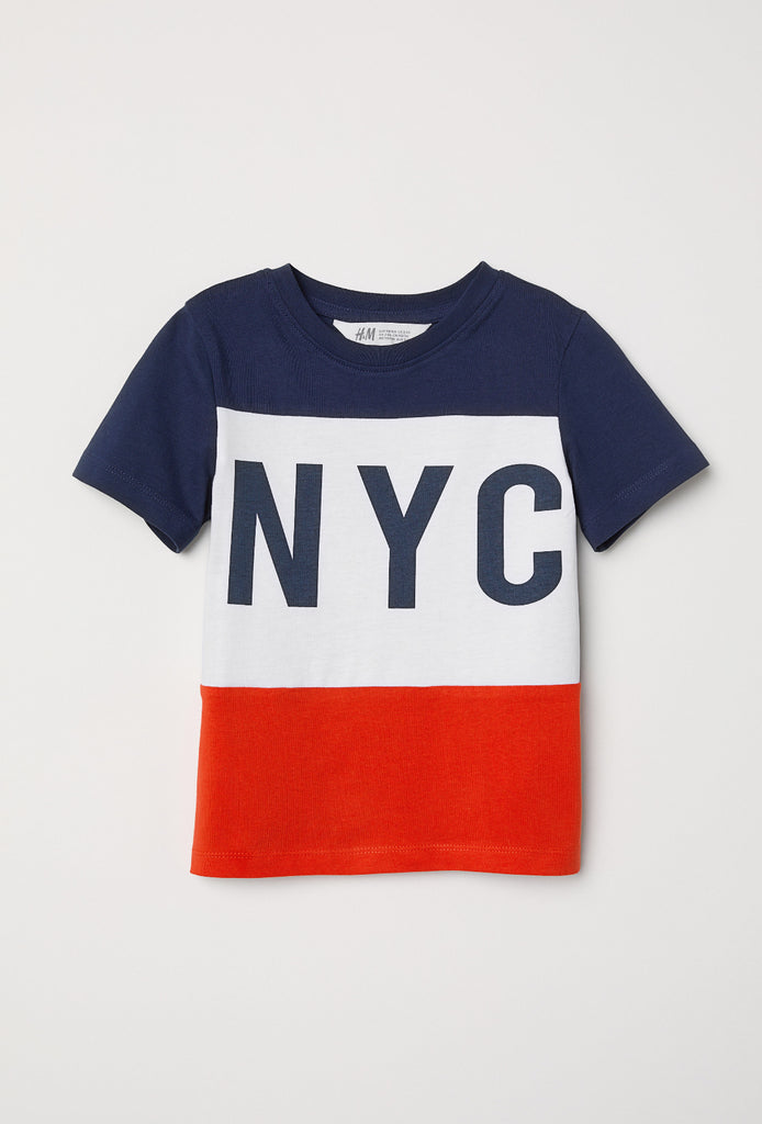 NYC Color Block T-shirt
