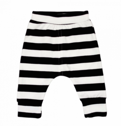 Black & White Striped Cotton Pants