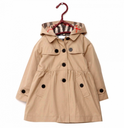 Hooded Button Down Trench