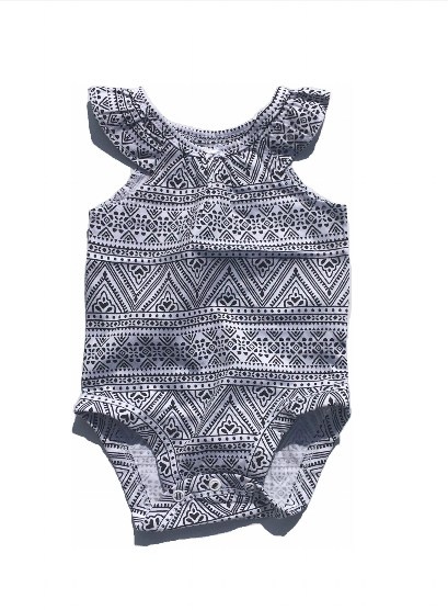 Black Aztec Bodysuit
