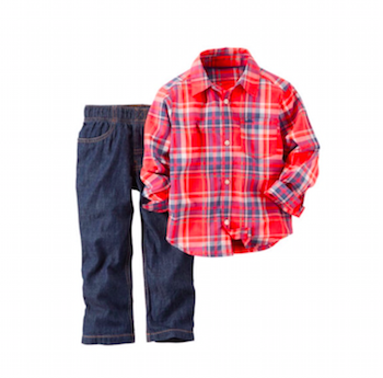 Red 2- Piece Pants & Shirt Set
