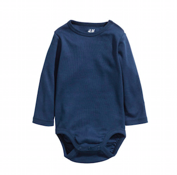 Blue Long Sleeve Bodysuit