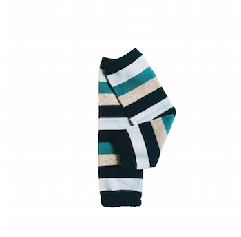 Blue Striped Leg Warmers