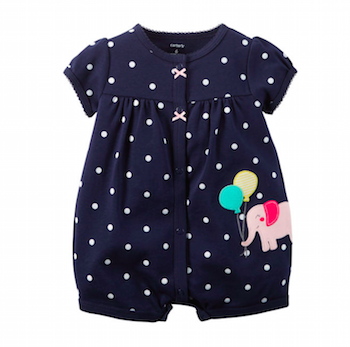 Snap Up Polkadot Romper