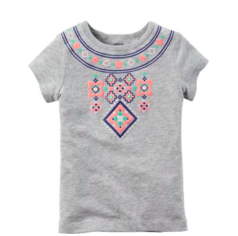 Multicolored Aztec Print Tee