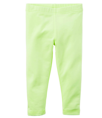 Neon Yellow Capri Tights