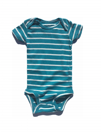 Teal Striped Bodysuit