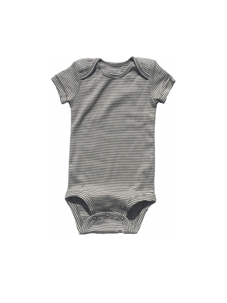 Brown Striped Bodysuit