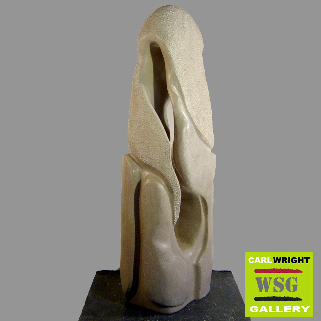 """Aria"" Limestone Abstract Stone Sculpture"
