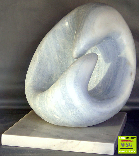 """Cherish"" Abstract Marble Sculpture"