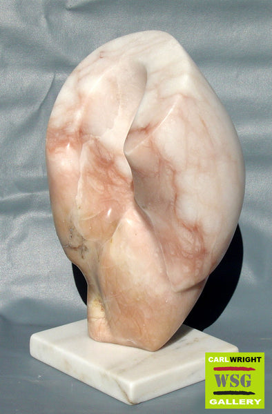 """Kourin"" Alabaster Abstract Stone Sculpture"