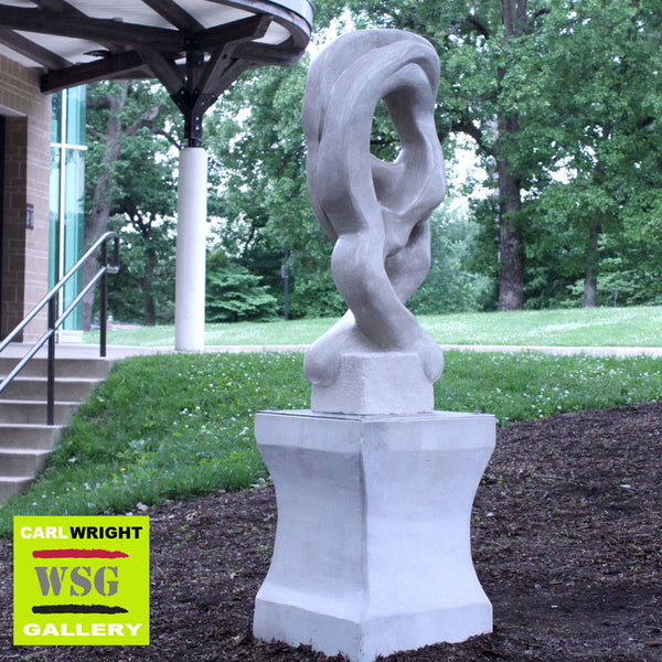 """Coordinate Harmony"" Indiana Limestone Abstract Sculpture"