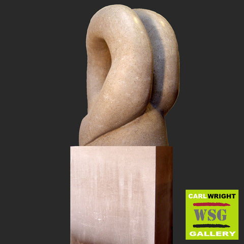 """Motion"" Indiana Limestone Abstract Sculpture"