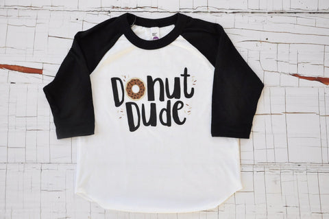 Donut Dude Double Chocolate- Raglan