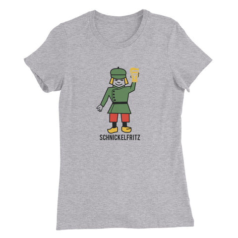 SCHNICKELFRITZ Women's Slim Fit T-Shirt