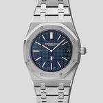 "Royal Oak Extra-Thin ""jumbo"" blue dial 15202ST.OO.1240ST.01"