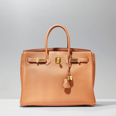 Birkin 35cm in gold togo by Hermès