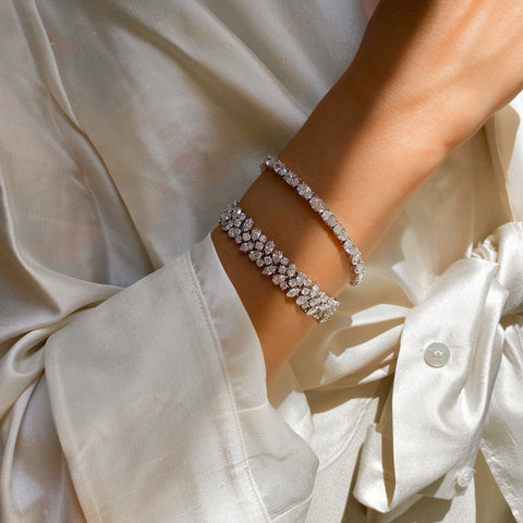 Oval Cut Diamond Tennis Bracelet