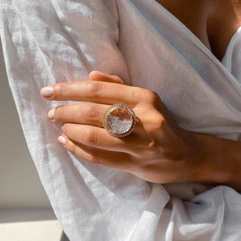Moveable Diamond Shaker Ring