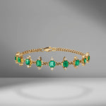 Toujours Multi Emerlad & Diamond Bracelet