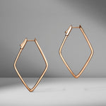 Diamond Shaped Pavé Hoop Earrings