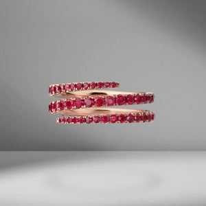 Ruby Coil Ring