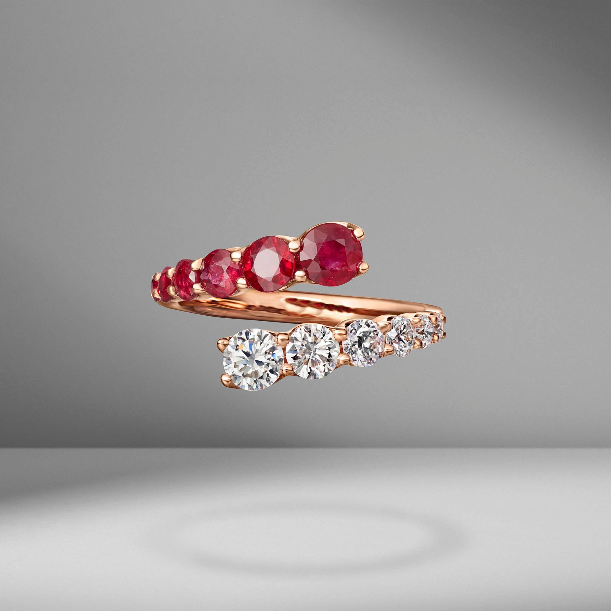 Ruby & Diamond Twist Ring
