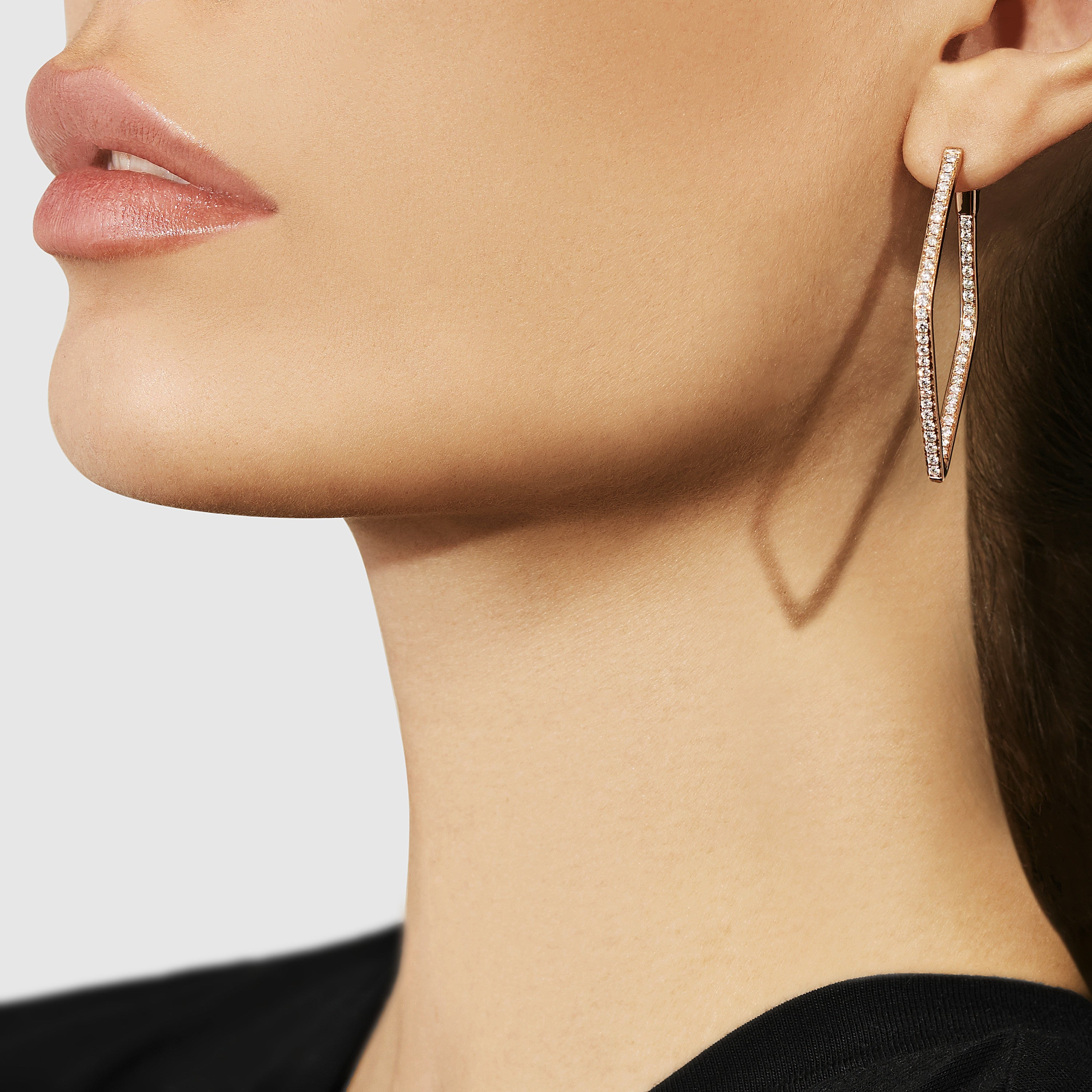 Diamond Hoop Earrings by Anita Ko - Anita ko