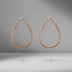 Pear Shape Hoop Earrings with Pear Diamond