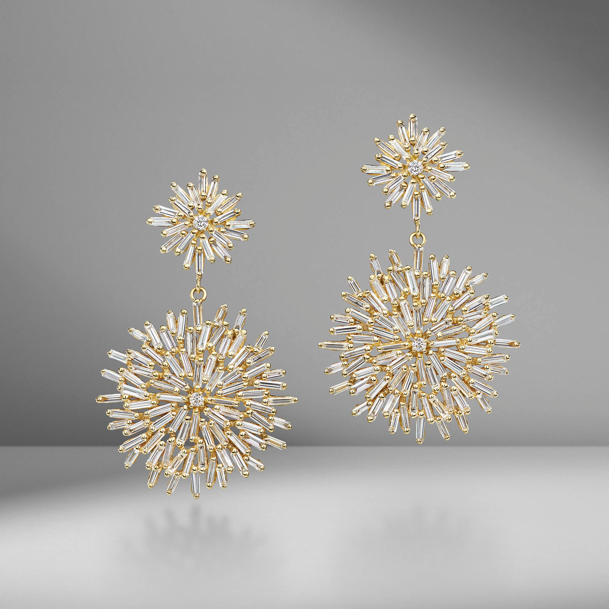 Fireworks Circle Drop Earrings