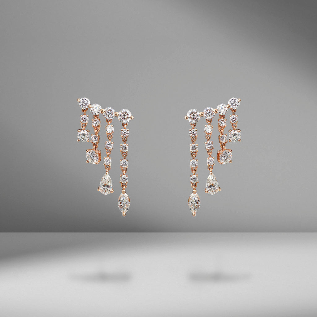 Small Rain Drop Diamond Earrings