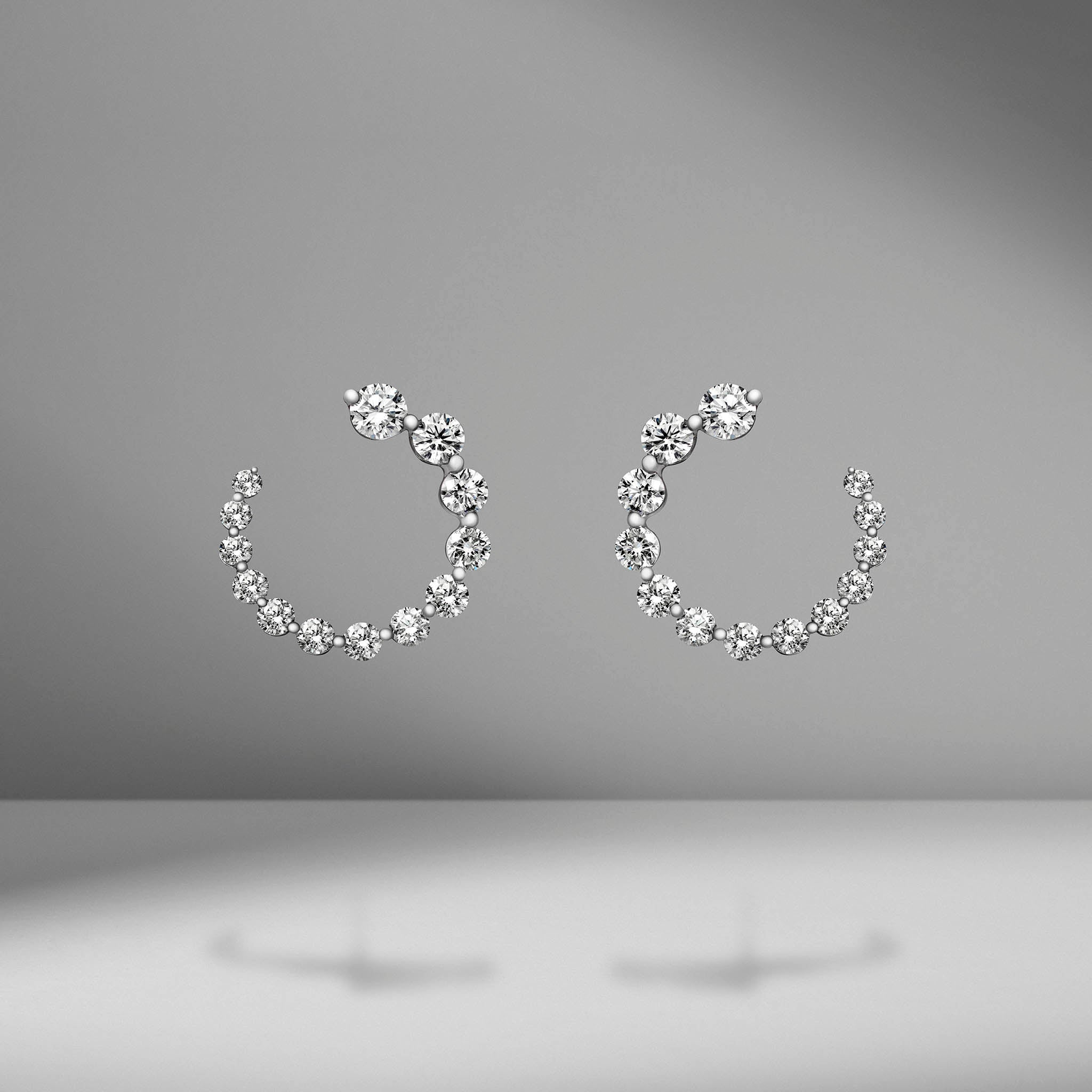 Small Diamond Garland Earrings